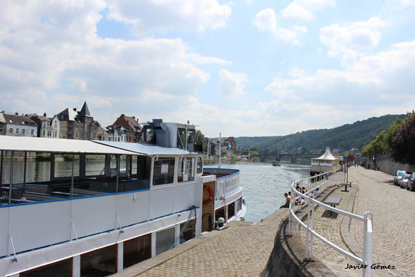 Boat trip on the river Meuse