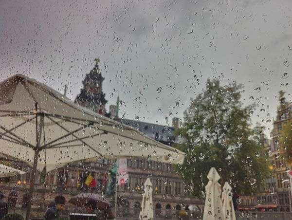 Lluvia en Bélgica